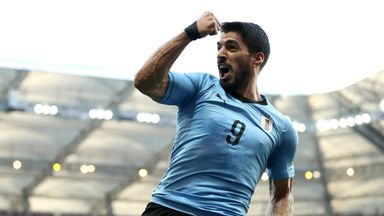 fifa live scores -                               Tabarez hails match-winner Suarez