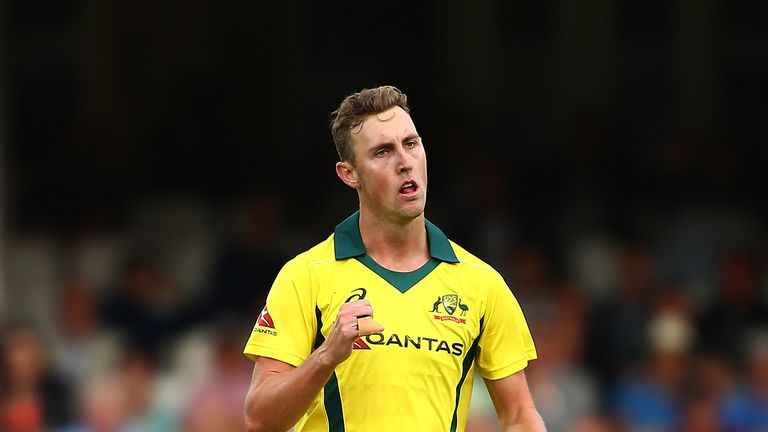 during the 1st Royal London ODI match between England and Australia at The Kia Oval on June 13, 2018 in London, England.