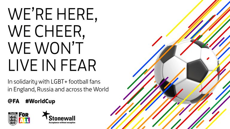 Football Association and Stonewall produce shareable image to promote LGBT+ inclusion in football
