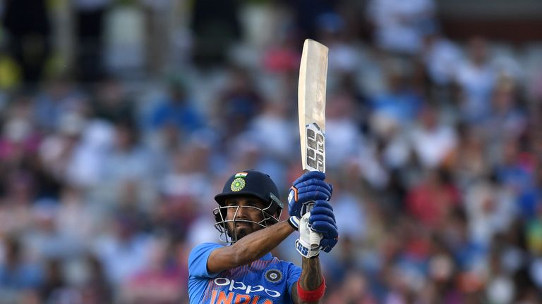 KL Rahul hit five sixes as India cruised to victory at Old Trafford