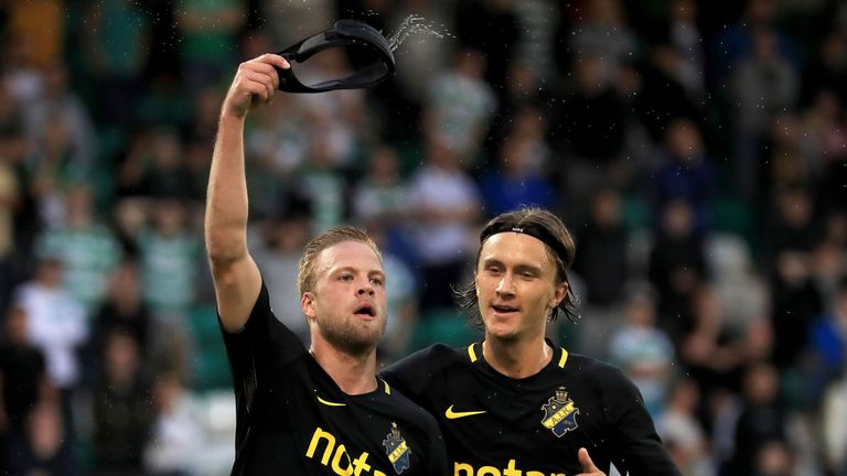 Daniel Sundgren scored the winner for AIK against Shamrock Rovers