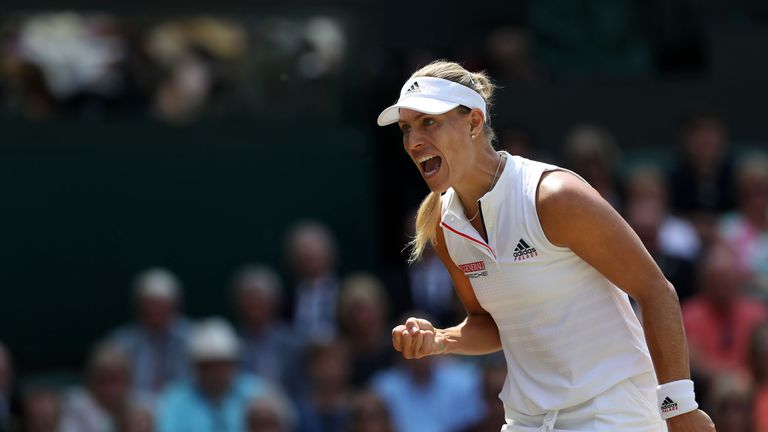 Angelique Kerber is going in search of her first Wimbledon Ladies' singles title