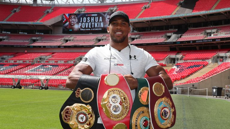 Joshua is back at Wembley Stadium in April