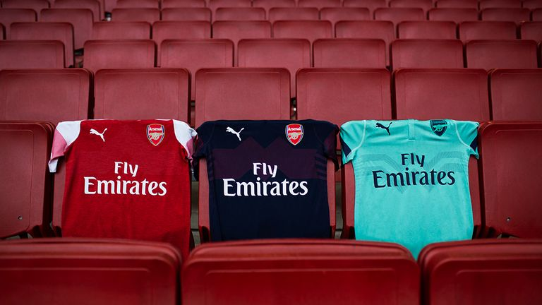 Arsenal unveil their full range of kits to be worn during the 2018/19 season (Puma)