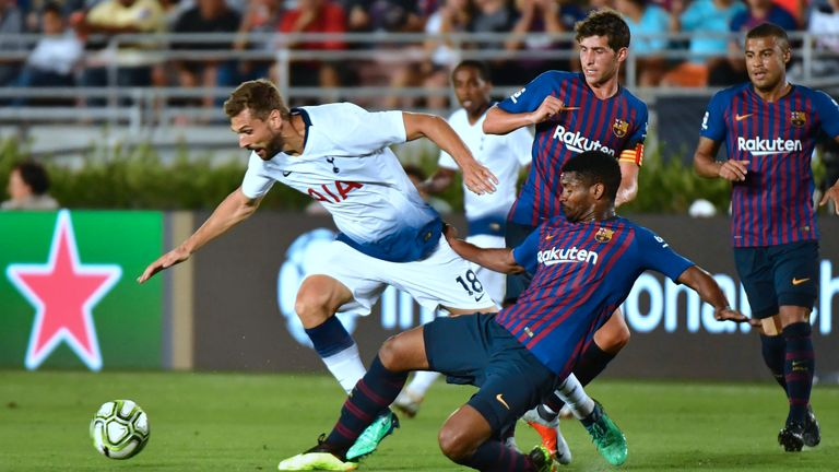 Tottenham have tested themselves against Barcelona