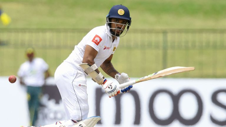 Danushka Gunathilaka is currently Sri Lanka's best-performing batsman in their Test against South Africa