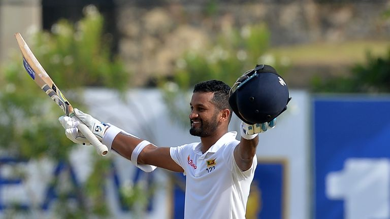 Karunaratne steadies Sri Lanka to 93-2 at lunch against SA