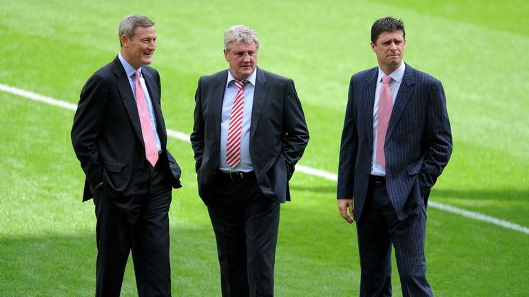 Ellis Short (left) took over Sunderland in May 2009 and appointed Steve Bruce as manager