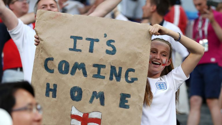 England fans in Moscow: It's our year