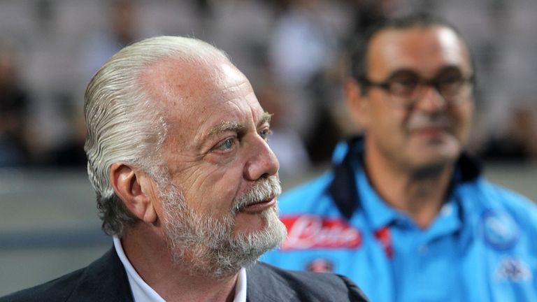 Napoli president Aurelio De Laurentis says Maurizio Sarri 'massacred' players in training