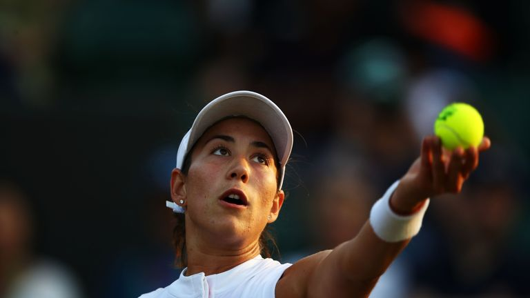 Muguruza was defeated 5-7 6-2 6-1 by Alison Van Uytvanck