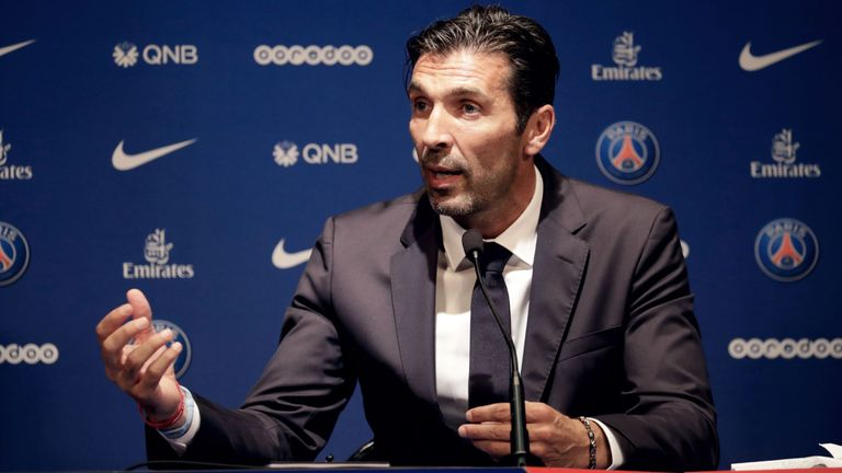 Gianluigi Buffon debuted vs George Weah, now he's his son's team-mate