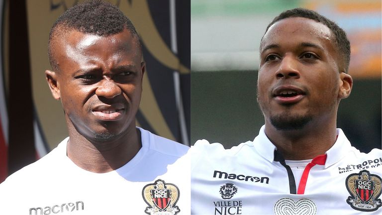 Jean Michael Seri (left) and Alassane Plea