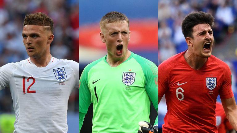 Kieran Trippier, Jordan Pickford and Harry Maguire are shining