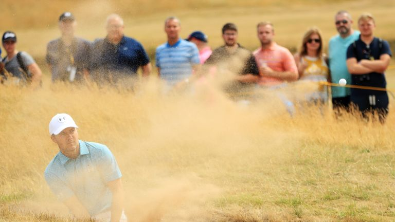 Tiger Woods on the prowl in the third round of Open Championship