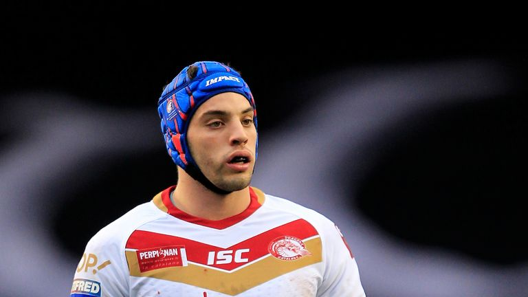 Catalans' Benjamin Jullien dove over for the first try of the day after just four minutes