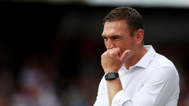 Kevin Sinfield's first game in charge of Leeds was a 42-10 loss to the Tigers