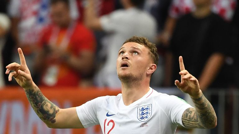 Kieran Trippier was England's man of the match in Moscow