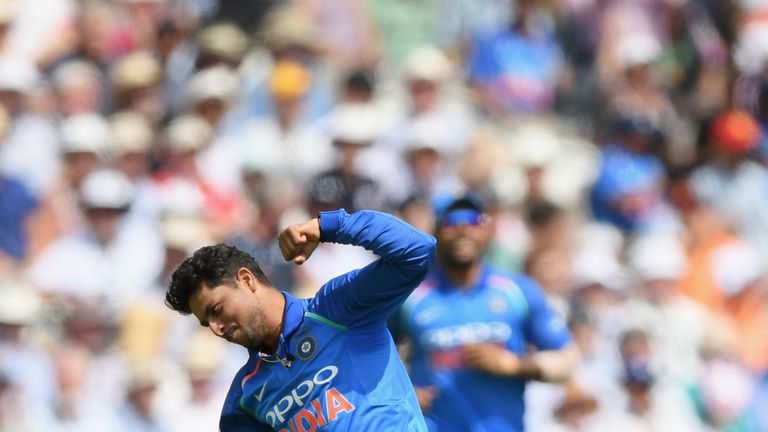 Kuldeep Yadav took three wickets but his 10 overs cost 68 runs