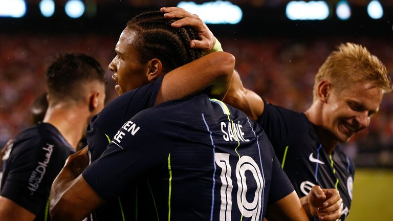 Leroy Sane scored his first goal of pre-season in Man City's 2-1 defeat by Liverpool