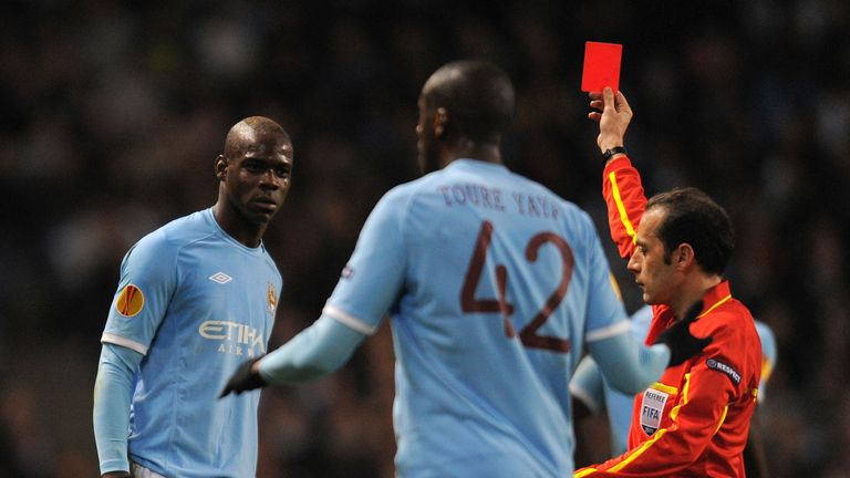 Cakir showed a red card to Mario Balotelli in 2011