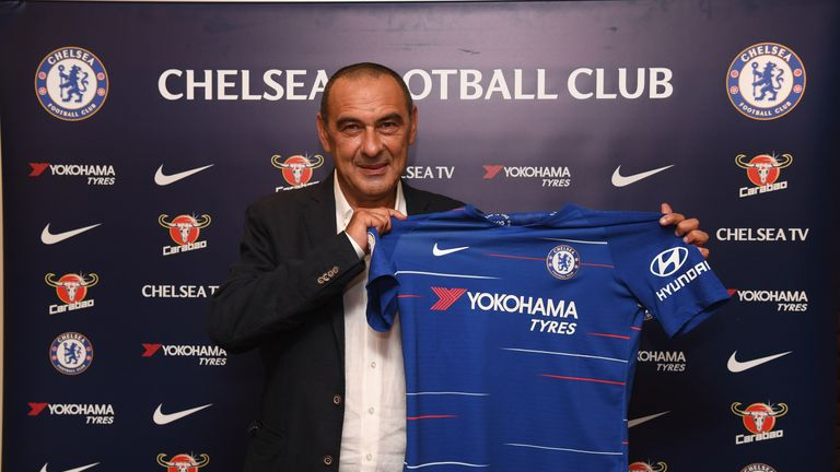 Maurizio Sarri has signed a three-year deal at Chelsea