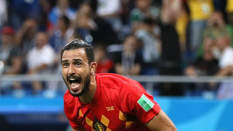 Nacer Chadli scored Belgium's winner against Japan in the fourth minute of added time