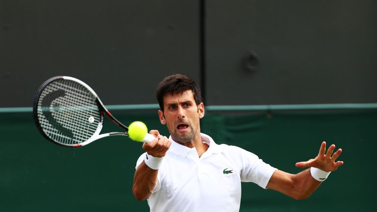 Novak Djokovic explains umpire argument during Kyle Edmund win at Wimbledon