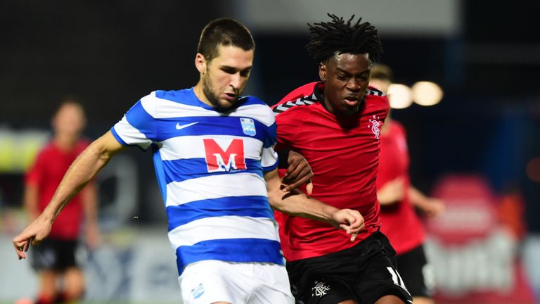 Rangers Ovie Ejaria and Alen Grgic in action