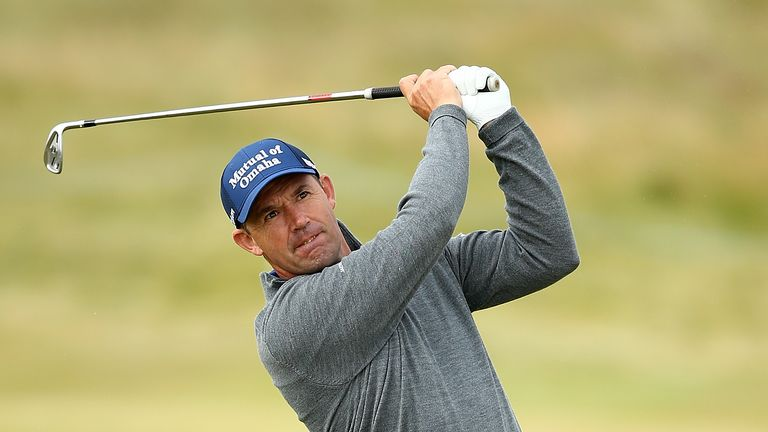 Padraig Harrington is grouped with fellow former champions Jimmy Walker and Vijay Singh