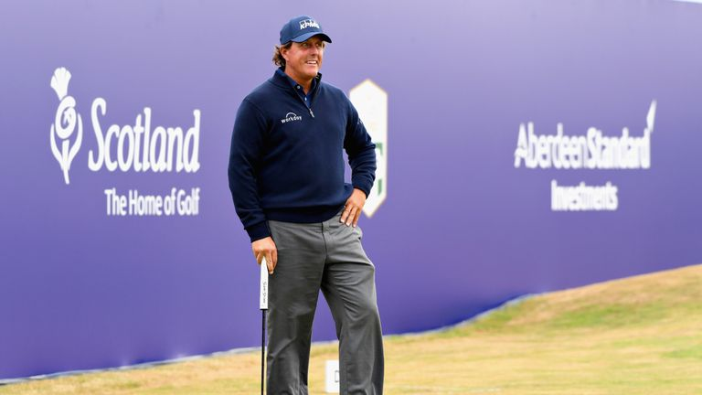 Mickelson posted a level-par 70 on Thursday