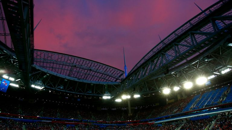 Saint Petersburg Stadium will host the third place play-off