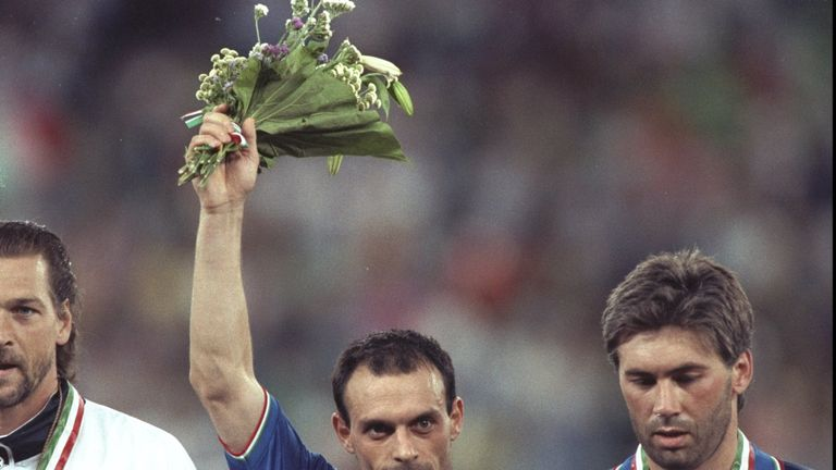 Salvatore Schillaci picked up the Golden Boot for his six goals on home soil