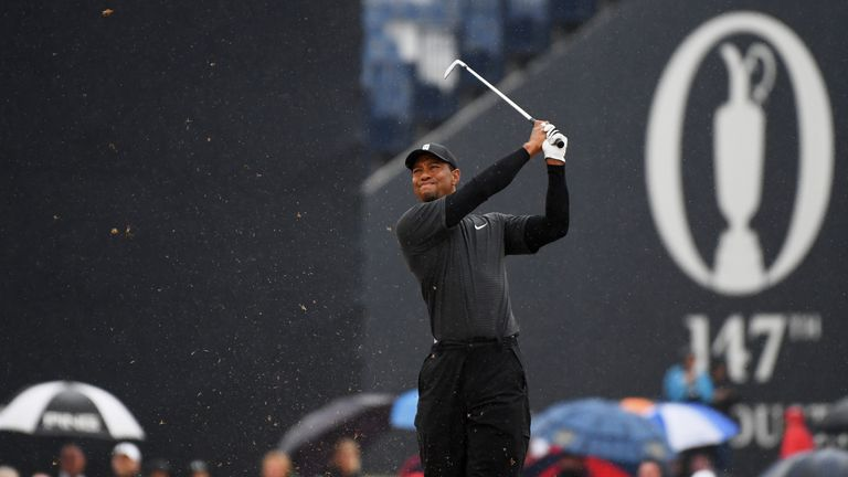 Tiger Woods almost caused an injury to fans at Carnoustie