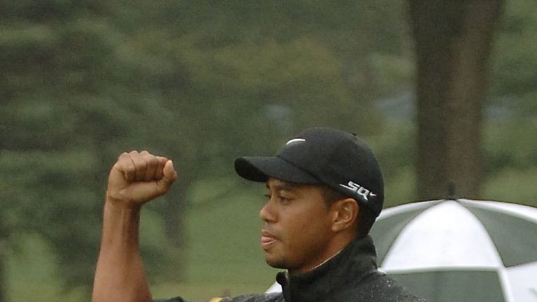Tiger Woods shoots 4-under 66 to open Bridgestone Invitational