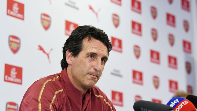 Arsenal head coach Unai Emery is preparing his side to take on Atletico Madrid
