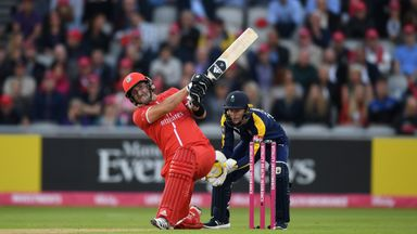 Liam Livingstone smashed 79 off 37 balls for Lancashire