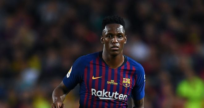 Everton land Barcelona's Yerry Mina and Andre Gomes and Brazil global  Bernard