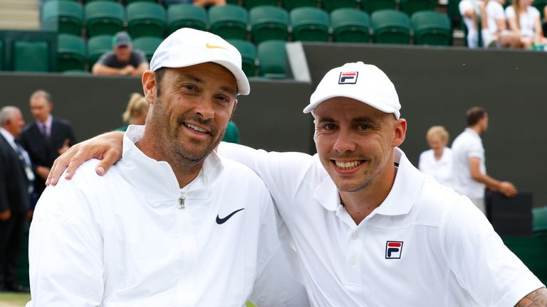 David Wagner and Andy Lapthorne celebrate their Wimbledon triumph