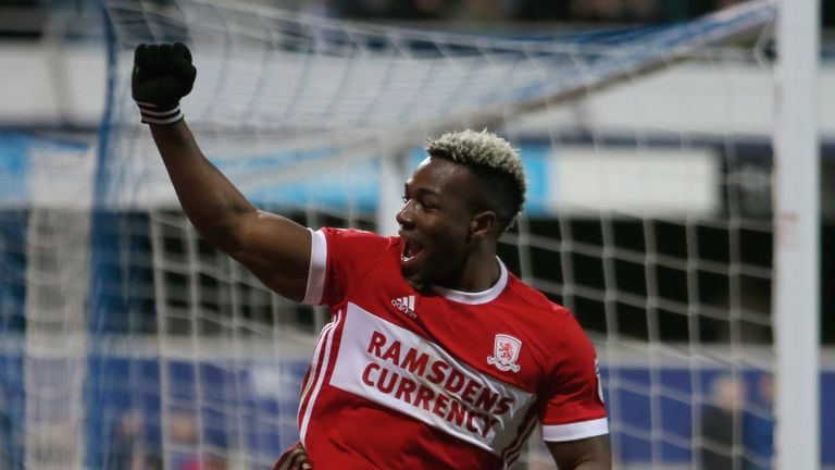 Traore in action for Middlesbrough