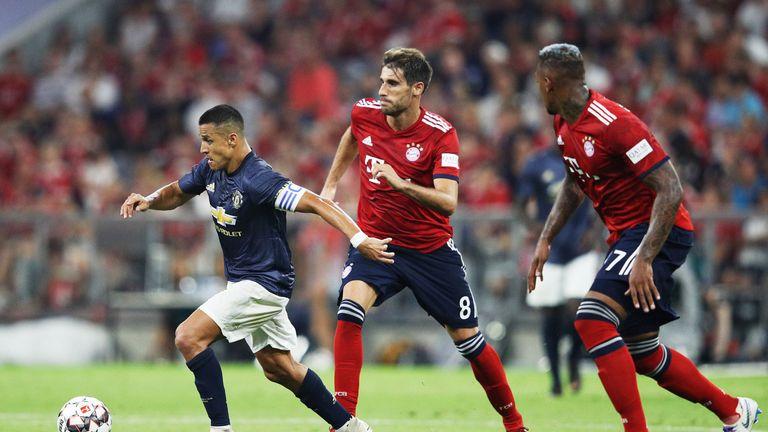 Alexis Sanchez had little impact against Bayern