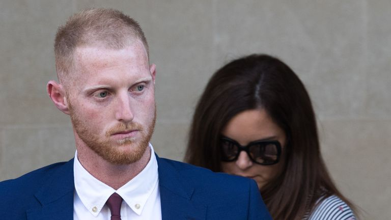 Ben Stokes was at Bristol Crown Court for the second day of his trial