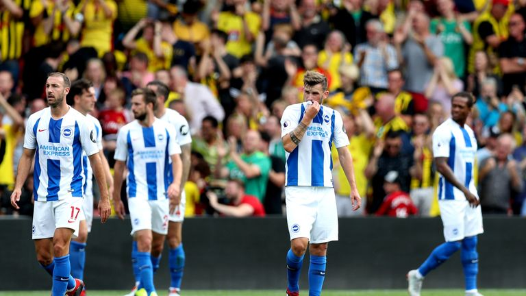 Brighton endured a difficult opening game of the 2018-19 Premier League season