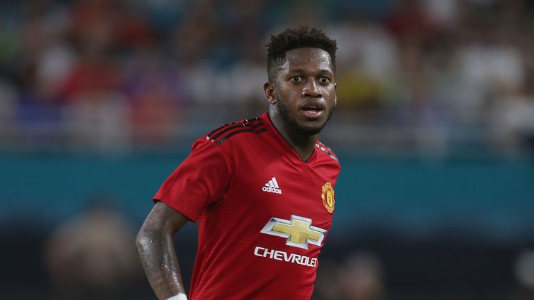 Fred made his full Manchester United debut against Real Madrid in Miami