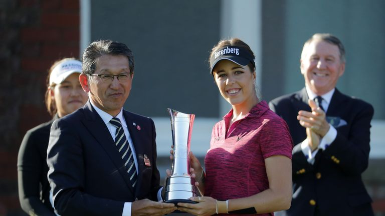 Hall celebrates her maiden major title at Royal Lytham