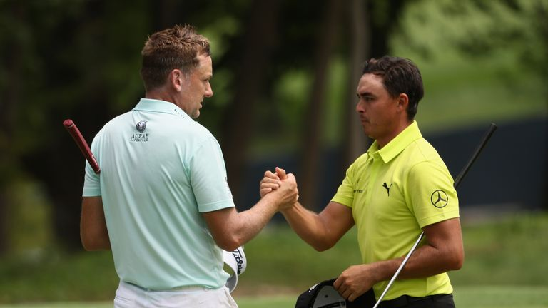 Poulter's playing-partner Rickie Fowler set the early pace