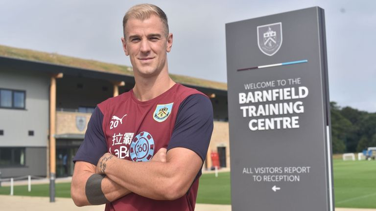 Joe Hart has joined Burnley from Man City (Pic credit Burnley FC)