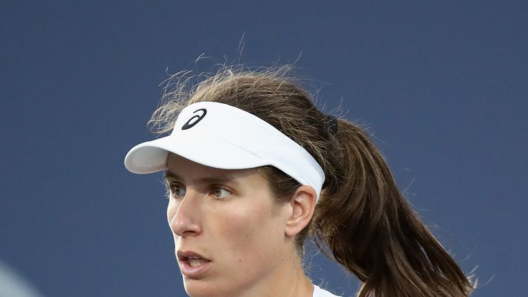 Konta stuns Serena Williams in opening round at San Jose