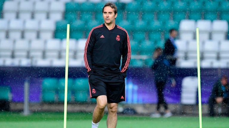 Julen Lopetegui will take charge of his first competitive game for Real Madrid