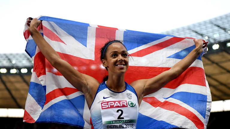 Katarina Johnson-Thompson settled for silver in the women's heptathlon